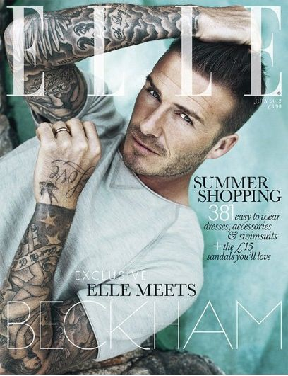 The front cover for Elle July