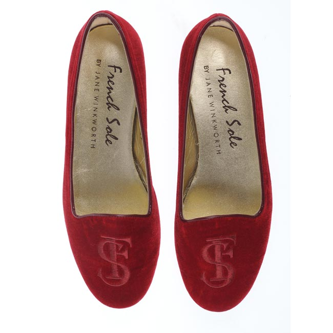 French Sole monogrammed slippers