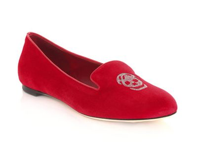 mcqueen skull slippers