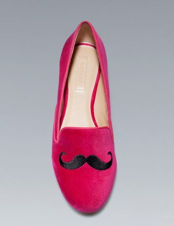 moustache slippers zara