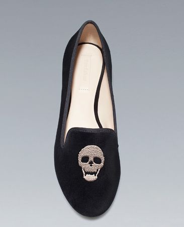 zara skull slippers