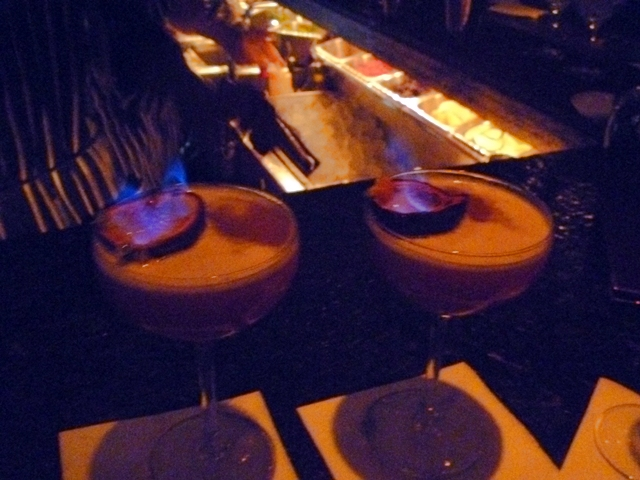 cocktails on fire