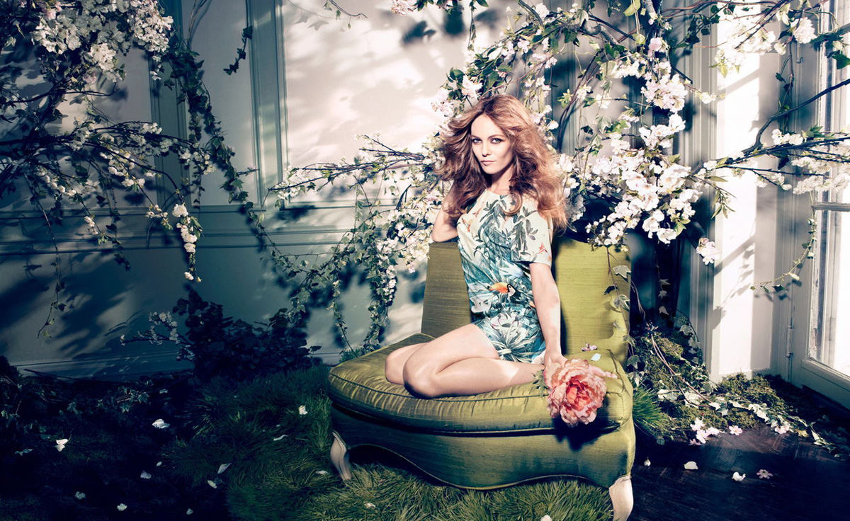 H & M Is Green with Vanessa Paradis. Eco-Fashion Collection Conscious