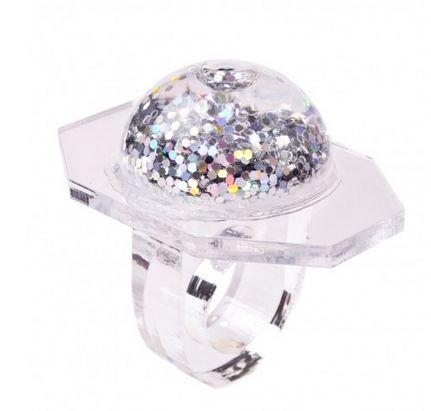 kitty joseph glitter ring