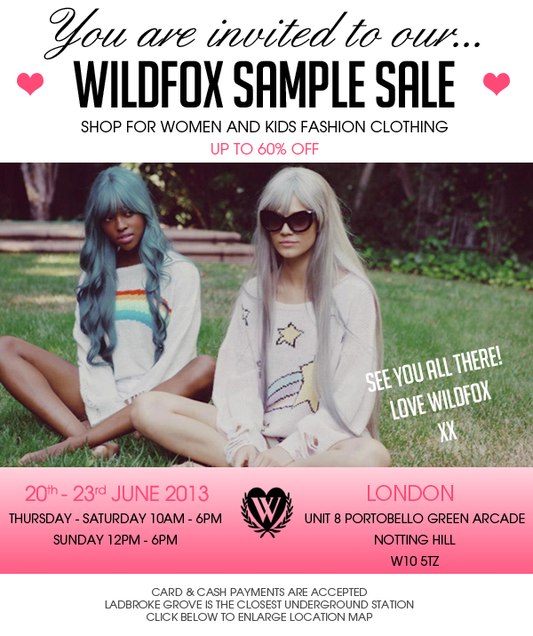 wildfox sample sale
