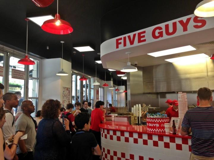 Five Guys London Covent Garden UK