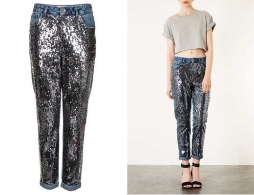 Topshop Sequin Jeans