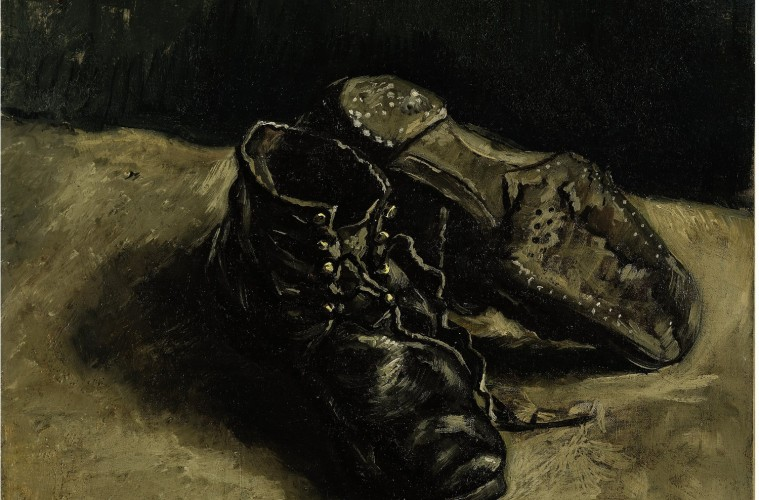 Vincent van Gogh. A Pair of Shoes, One Shoe Upside Down, Autumn 1886, Private collection