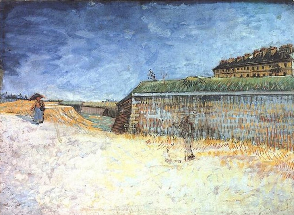 Vincent van Gogh. Fortifications of Paris with Houses, summer 1887, The Whitworth Art Gallery, University of Manchester