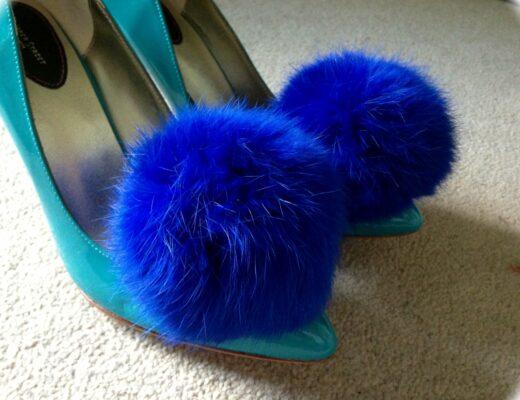 Cleo B Pom Pom Shoe Clips