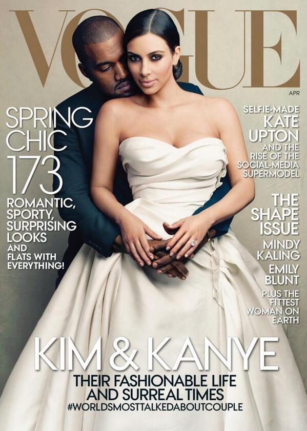 Kim Kardashian & Kanye West Vogue US