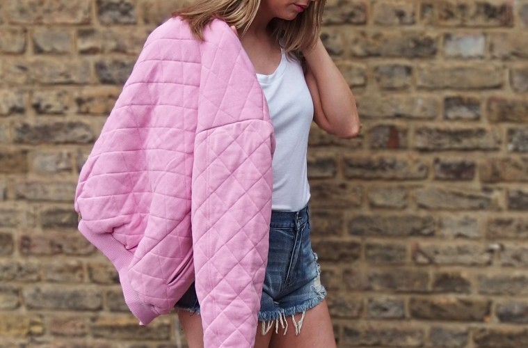 Motel Quilted Bomber Jacket