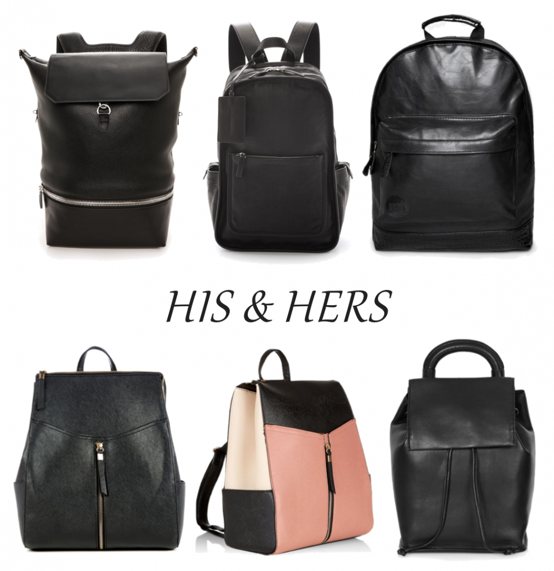 HIS & HERS Leather Backpack