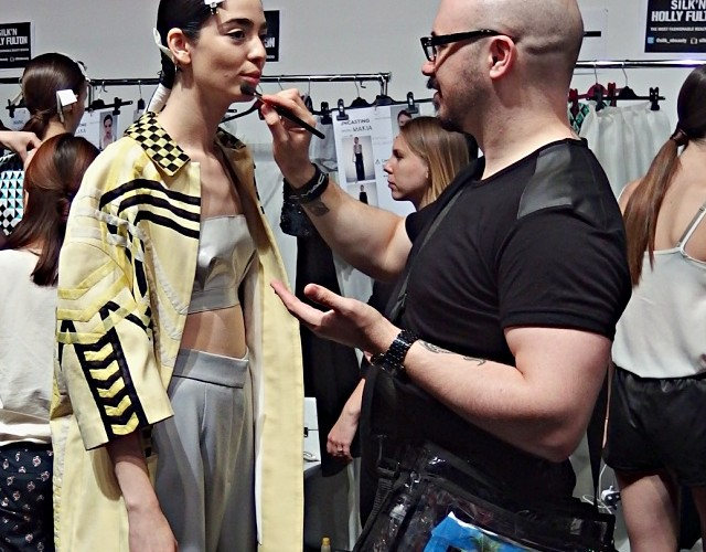Backstage At Holly Fulton LFW SS15