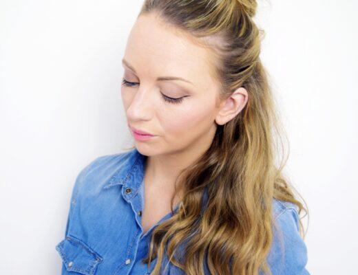 how to do the hun half bun hairstyle