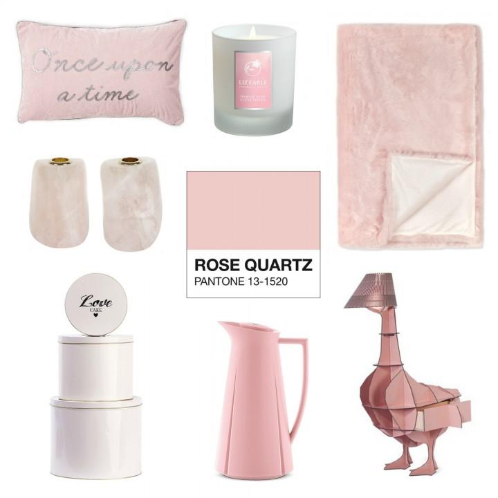Pantone Rose Quartz Interiors