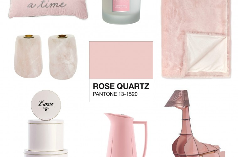 Pantone Rose Quartz Interiors