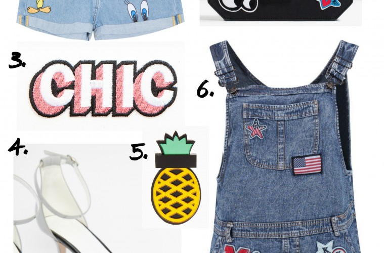 Clothing with patches high street