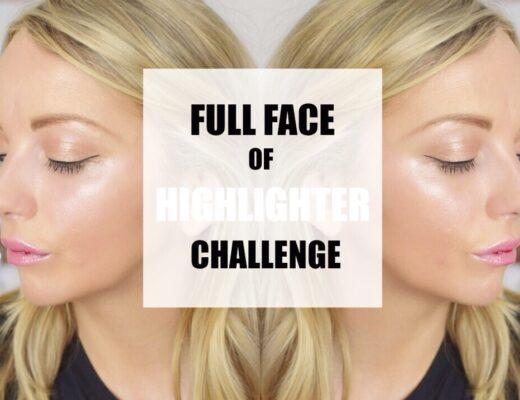 Full face of highlighter challenge