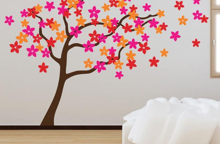 Wall Stickers Flower Tree