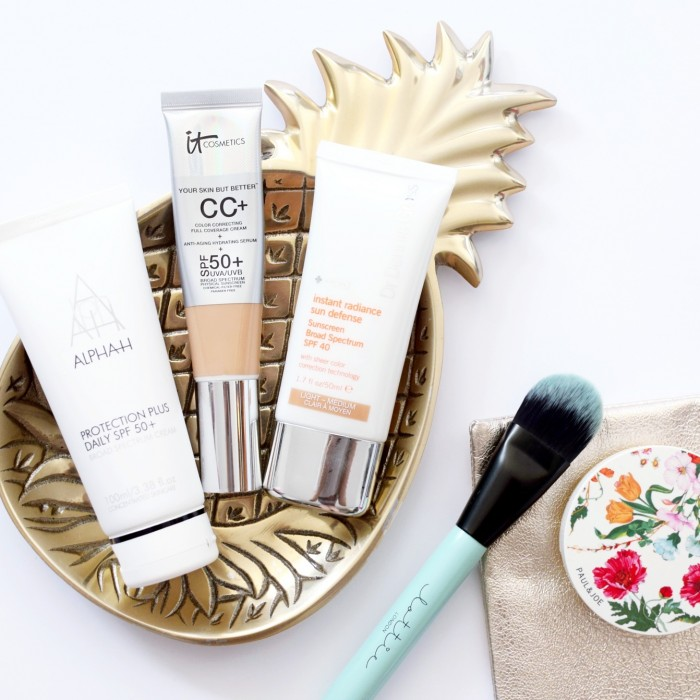 Tinted moisturisers with SPF