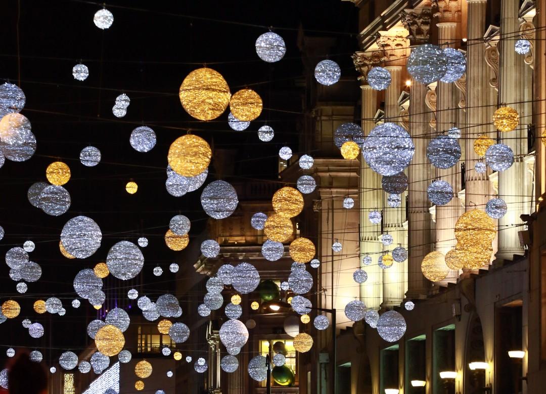 Oxford Street Christmas lights . . London, UK