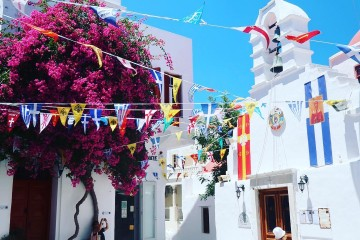 Mykonos town streets