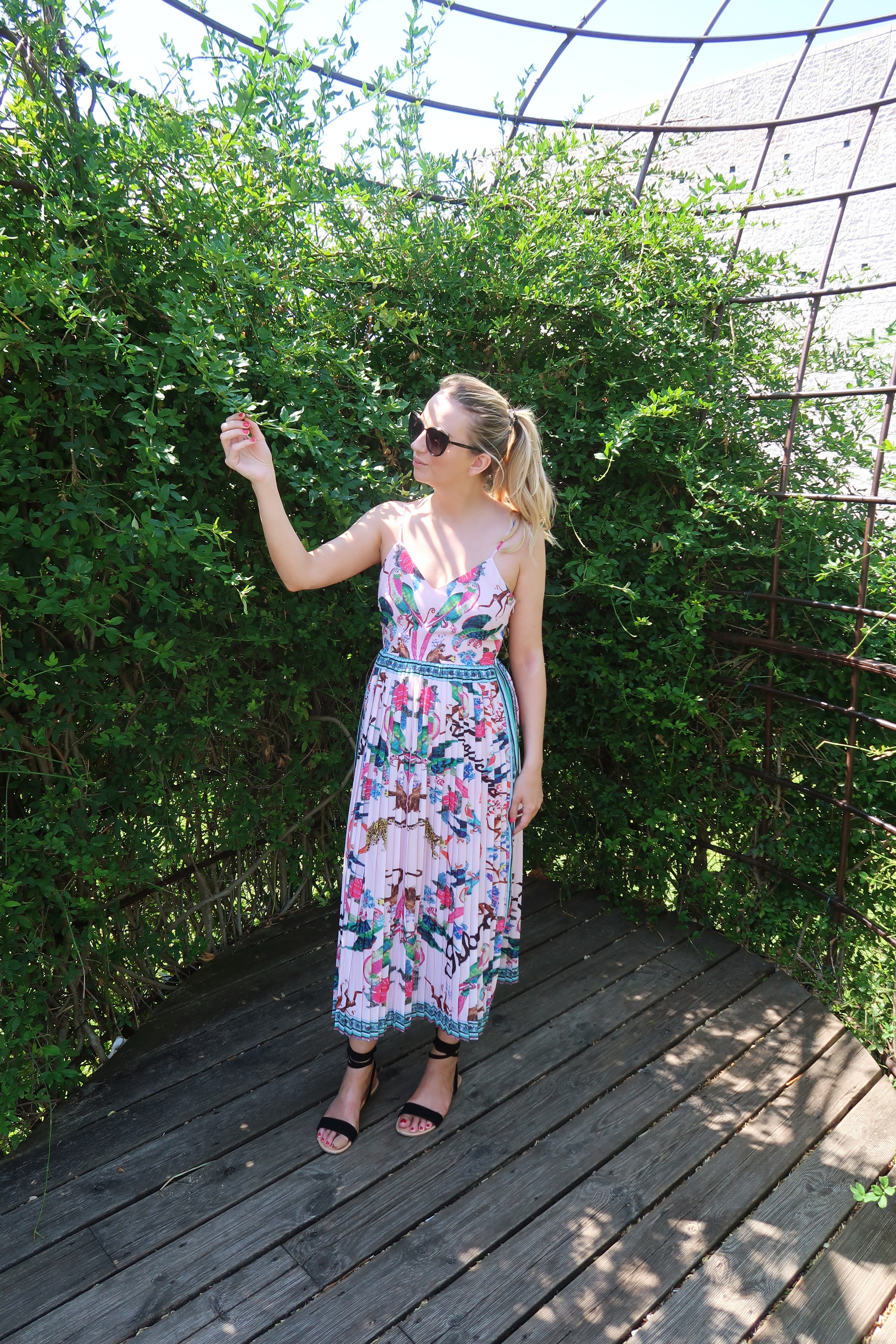 H&M Tropical Pink Dress