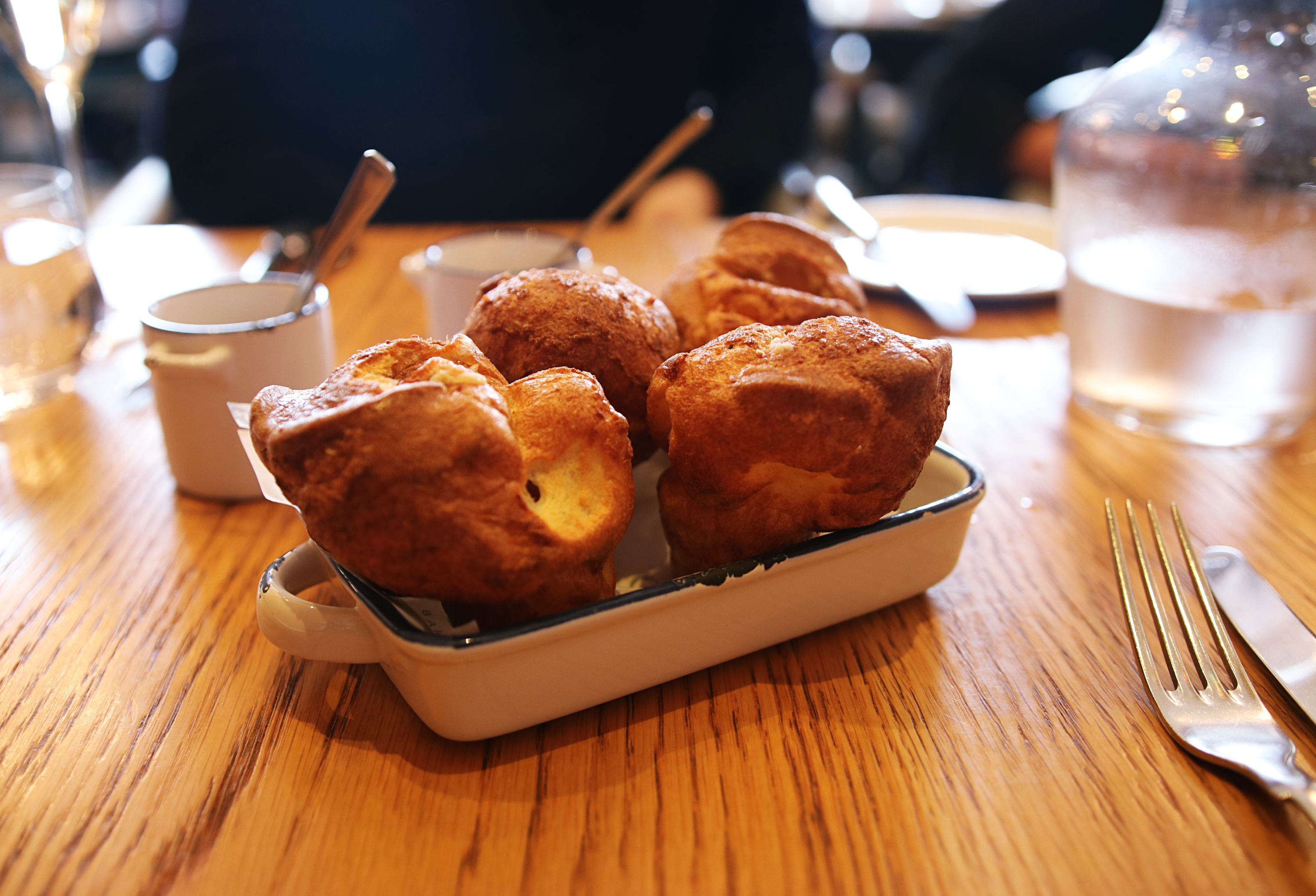 Yorkshire puddings and cheese - Gillrays Steakhouse - London Lifestyle Blog