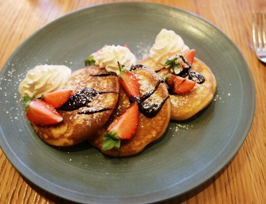 Pancakes and Chocolate Sauce Gillray's Brunch London - London Lifestyle Blog
