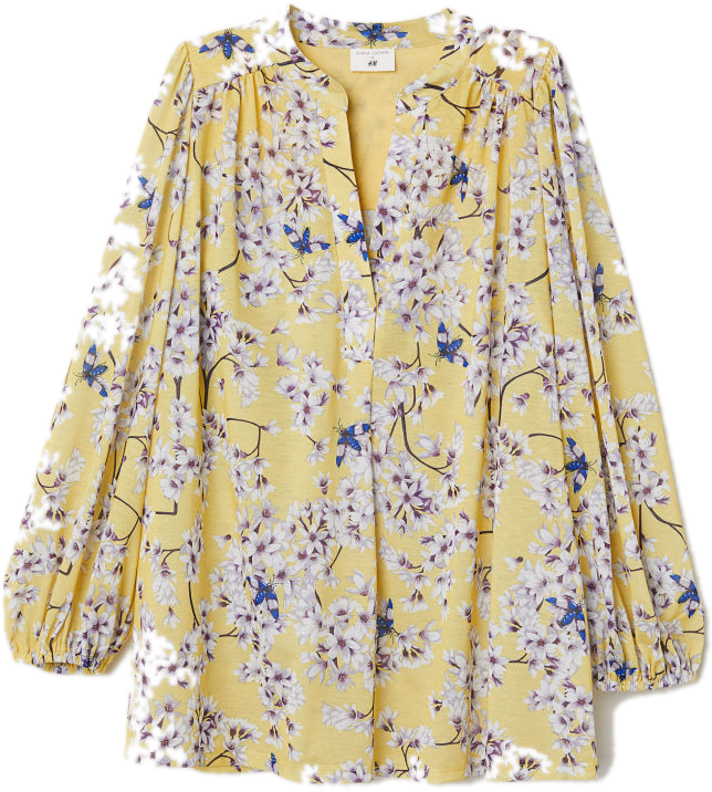 H&M floral yellow top