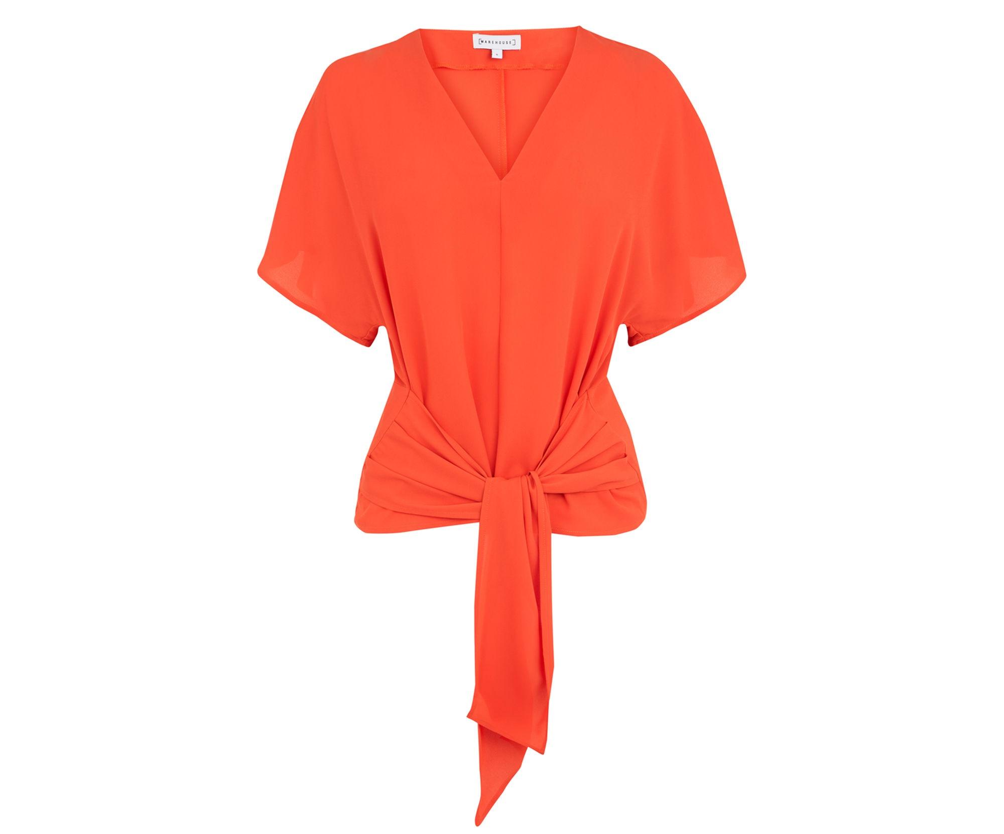 warehouse orange top
