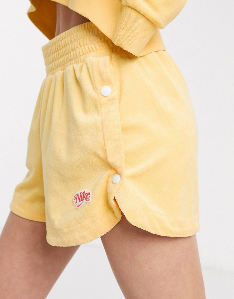 Nike Yellow Towelling Shorts