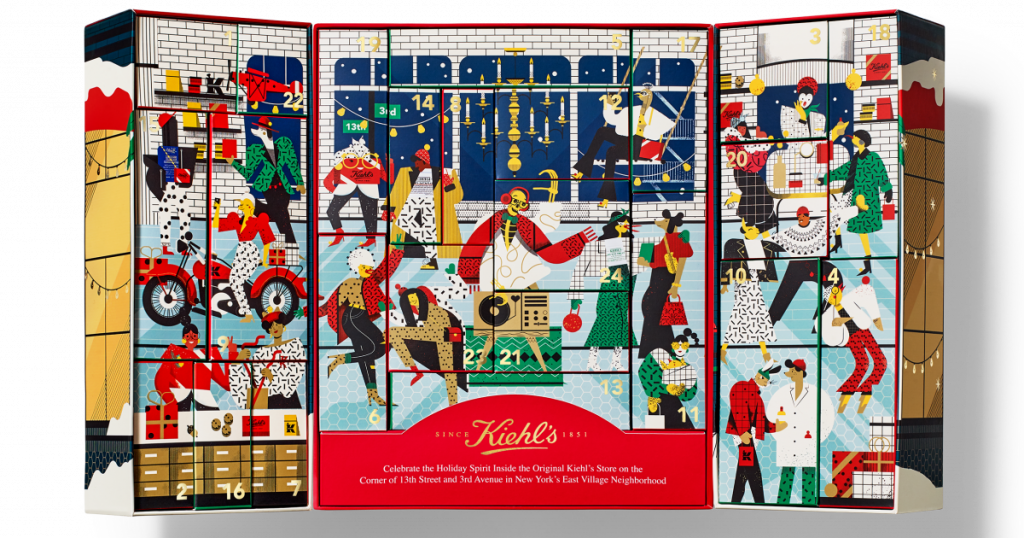Kiehl's Advent Calendar 2020 Inside